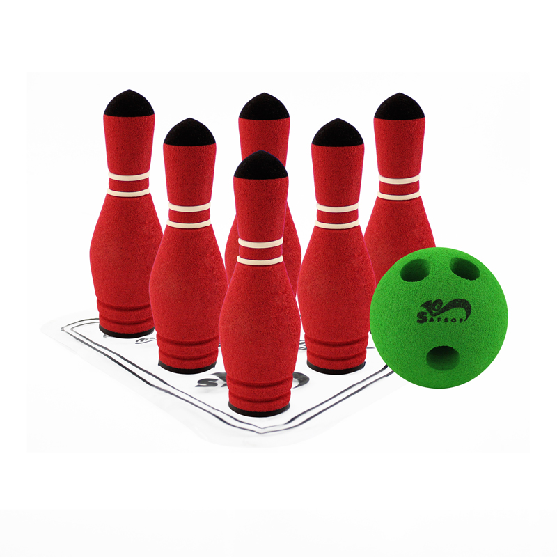 MINI BOWLING SET | Rubber Foam Sport Toys for Kids | SAFSOF